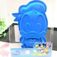 Disney Donald Duck Silicone Chocolate Jelly Muffin Cup Cake Blue Pan Mold Mould