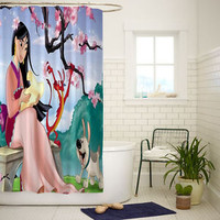 Mulan Disney Princes Best Quality Shower Curtain 60x72 Inch
