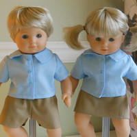 15 inch Doll Clothes fits American Girl Bitty Babies - School Uniforms