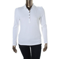 Burberry Brit Womens Long Sleeves Stretch Polo Top