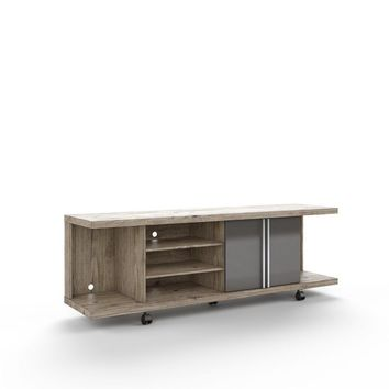Carnegie TV Stand in Nature and Onyx