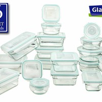 36 Piece Airtight Anti-Spill Proof Tempered Glasslock Storage Container Set | Wayfair