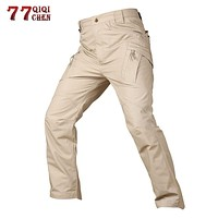 Tactical Pants Army Military Style Cargo Pants Men X7 IX9 Combat Trousers Casual Work Trousers SWAT Thin Pocket Baggy Pants