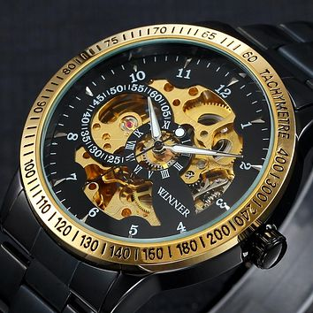 Luxury Sport Men Automatic Watch Skeleton Military Mechanical Watch Male Montre Relojes Relogio Masculino
