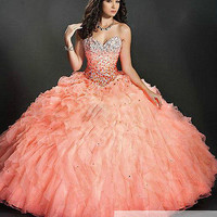 New Style Formal Prom Quinceanera Party Ball Gown Wedding Dresses Size 2-28