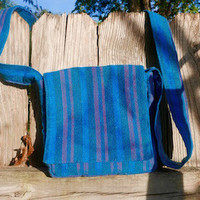 Blue Small Messenger Bag