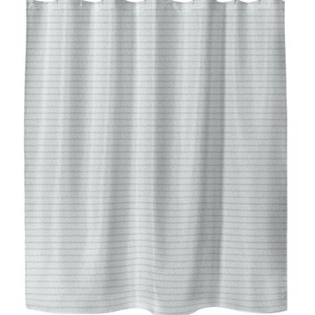 LOOSE EDGES BLUE Shower Curtain By Tiffany Wong