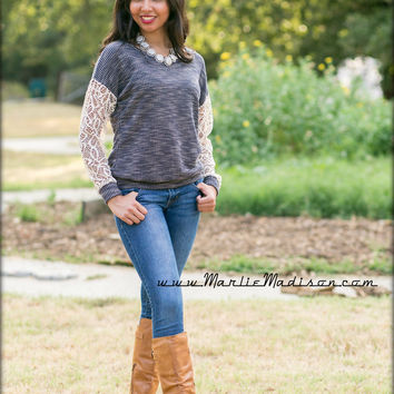Savannah Lacey Sweater - MMB Famous Collection