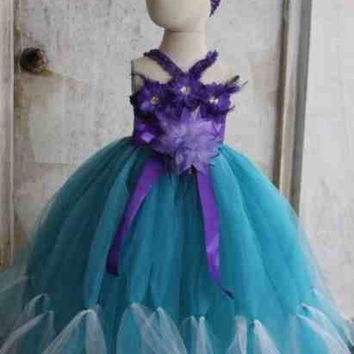 Inspired by Disney's Princess Ariel The Little Mermaid Handmade Fancy Dress, Birthday Themed Party Costume Ages 5 6 7