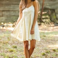 Lace Go Dancing Natural Lace Dress