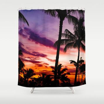 Fire In The Sky Shower Curtain by Gallery One