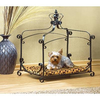 Royal Splendor Jewel Studded Pet Bed