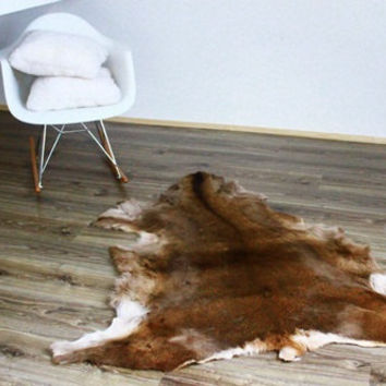 Exclusive Genuine Natural rare DEER Skin - Rug, Hide, Pelt, Large