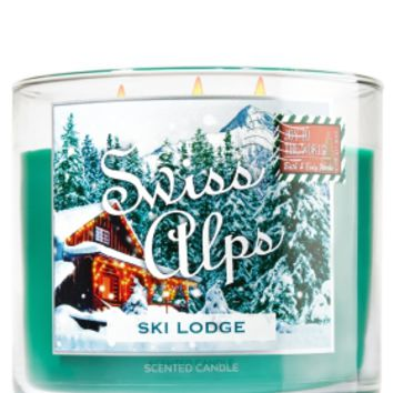 3-Wick Candle Swiss Alps - Ski Lodge