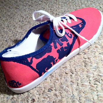 Lilly Pulitzer Inspired Tusk in the Sun Hand painted shoes