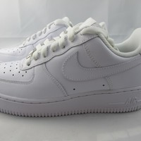 NEW WOMEN'S NIKE AIR FORCE 1 '07 315115-112 WHITE/WHITE