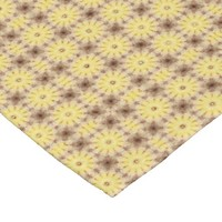 Bright Yellow Daisies small tile pattern mosaic Fleece Blanket