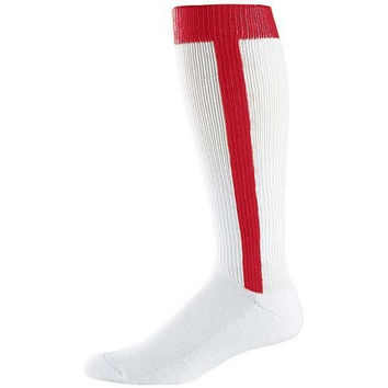 RED Youth (Ages 4-7) Baseball/Softball Stirrup and Sock Two-in-One