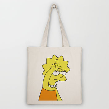 Lisa Simpson Loser Tote Bag by hunnydoll