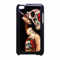 Floral Sugar Skull Tattooed iPod Touch 4th Generation Case
