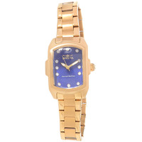 Invicta 16284 Women's Baby Lupah Special Edition Blue Dial Gold Plated Steel Bracelet Dive Watch