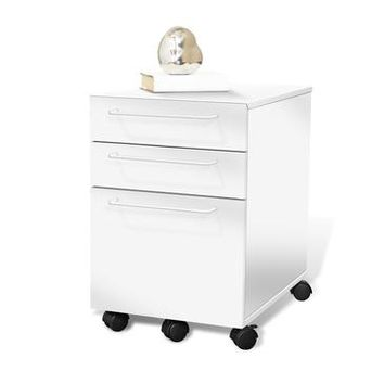 Jesper 200 3 Drawer File Cabinet In White