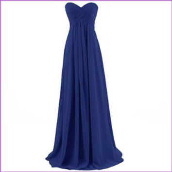 Stock Long Chiffon Bridesmaid Prom Dresses Wedding Party Cocktail Evening Gowns