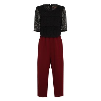 CLASSIC CASUAL COMBO SUIT - BURGUNDY