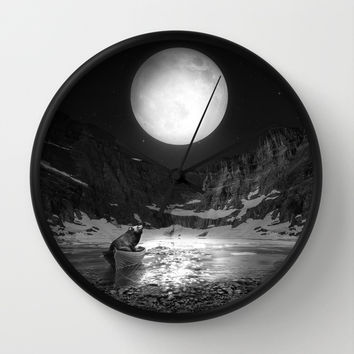 Somewhere You Are Looking At It Too Wall Clock by Soaring Anchor Designs | Society6