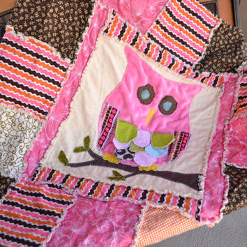 Owl Rag Quilt Sewing Pattern, Instant Download