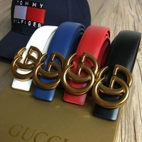 Gucci Women Men Fashion Genuine Leather belt 4 Color G