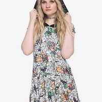 Her Universe Marvel The Avengers Comic Hoodie Dress