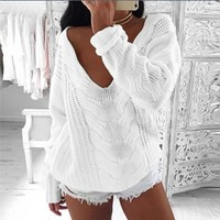 Winter Hot Sale Strapless Sexy Sweater [22463053850]