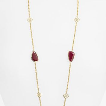 Women's Kendra Scott 'Kinley' Long Station Necklace (Nordstrom Exclusive)