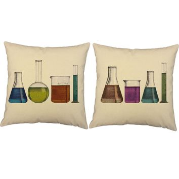 Victorian Science Throw Pillows