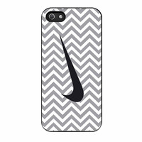 Nike Logo Chevron Graydc iPhone 5 Case