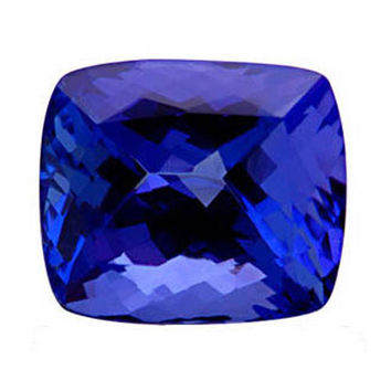 Loose cushion cut 4 carats AAA natural tanzanite gem-stone