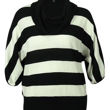 Style & Co Women's Cowl Neck Stripe Sweater