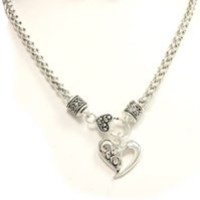 HEART DESIGN NECKLACE WITH EARRING SET