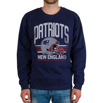 New England Patriots Fleece Crew Sweatshirt – Navy Blue