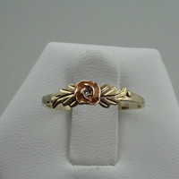 Darling 10k Black Hills Gold and Diamond Promise Ring