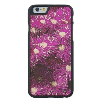 Purple Ice Cap Wood Phone Case Carved® Maple iPhone 6 Slim Case