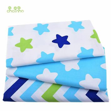 New Print Twill Cotton Fabric For Sewing Baby&Chaidren Bedding Clothes Dress Skirt DIY Patchwork Star Tissue Material 50x160cm