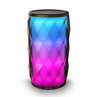Night Light Bluetooth Speaker, SHAVA Jewel Portable Wireless Bluetooth Speaker Touch Control 6 Color LED Themes Bedside Table Lamp, Speakerphone/ PC / MicroSD/ AUX-In Supported