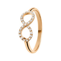 Ring Bow diamond-set rose gold | rings RenéSim