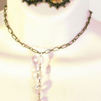 Religious Jewelry Mustard Seed necklace and earrings/Free Shipping