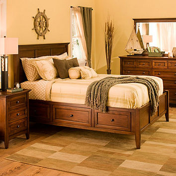 Westlake 4-pc. Queen Platform Bedroom Set w/ Storage Bed | Bedroom Sets | Raymour and Flanigan Furniture