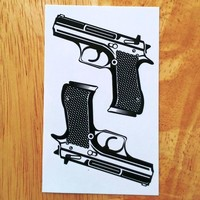 Waterproof Temporary Tattoo Sticker on body sexy lace pistol gun tatto stickers flash tatoo fake tattoos for girl women