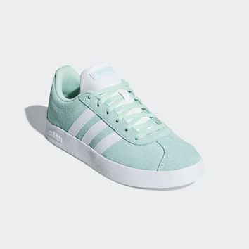 adidas VL Court 2.0 Shoes - Turquoise | adidas UK