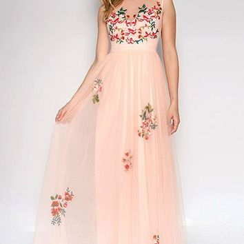 Kaitlynn Floral Prom Formal Event Dress Gown